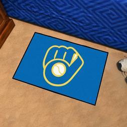 "Milwaukee Brewers 19"" X 30"" Starter Area Rug Floor Mat"