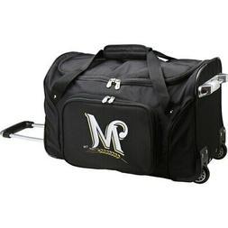 "Milwaukee Brewers 22"" 2-Wheeled Duffel Bag - Black"