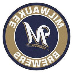 milwaukee brewers 27 roundel area rug floor