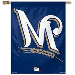 """MILWAUKEE BREWERS 28""""X40"""" BANNER FLAG BRAND NEW FREE SHIPPIN"""