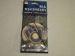 Milwaukee Brewers 3 Pack Air Freshener