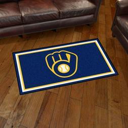 Milwaukee Brewers 3' X 5' Decorative Ultra Plush Carpet Area