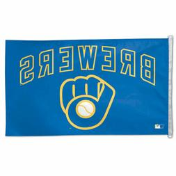 MILWAUKEE BREWERS 3'X5' HOUSE FLAG WALL BANNER MLB LICENSED