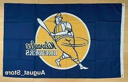 Milwaukee Brewers 3x5 ft Flag MLB Banner Retro Throwback