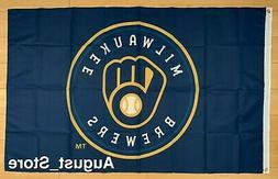 Milwaukee Brewers 3x5 ft Flag MLB Banner