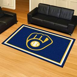 Milwaukee Brewers 5' X 8' Decorative Ultra Plush Carpet Area