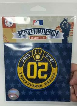Milwaukee Brewers 50th Golden Anniversary 2020 Patch MLB Bas