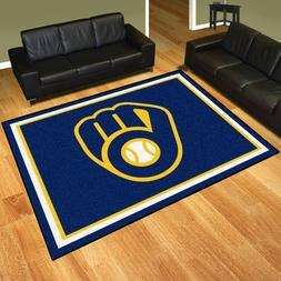 Milwaukee Brewers 8' X 10' Decorative Ultra Plush Carpet Are