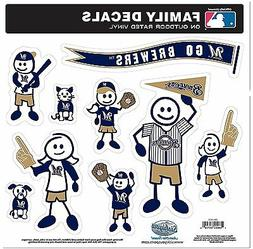Milwaukee Brewers 9 Piece Jumbo Family Decals -NEW Auto Car
