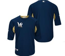 milwaukee brewers authentic collection on field batting