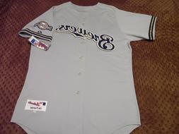 Milwaukee Brewers Authentic Grey Road Jersey Sz 48, 52, 56