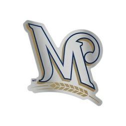 "MILWAUKEE BREWERS AUTO BADGE CAR DECAL EMBLEM 3""×5"" SHARP!"