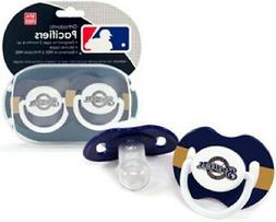 Milwaukee Brewers Baby Pacifiers 2 Pack  MLB Infant Newborn