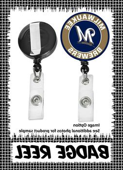 Milwaukee Brewers - Badge Reel - Choose From 12 Designs