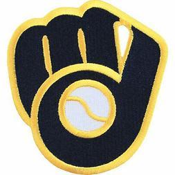 Milwaukee Brewers Ball & Glove Alternative Blue Gold Throwba