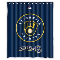 milwaukee brewers baseball custom waterproof shower curtain