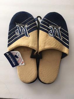 Milwaukee Brewers MLB Mens Slide Slippers Big Logo