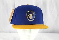 Milwaukee Brewers Blue/Yellow MLB Baseball Cap Snapback