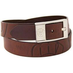 Milwaukee Brewers Brandish Leather Belt - Brown