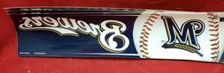 MIlwaukee Brewers Bumper Sticker 3x12 Self Adhesive MLB Team