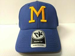 Milwaukee Brewers 47 Brand Cap Hook & Loop Adjustable Blue M
