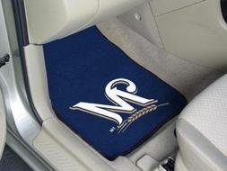 """Milwaukee Brewers 2-piece Carpeted Car Mats 18""""x27"""