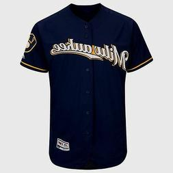 Milwaukee Brewers Cool Base Jersey Navy Plus Sizes Majestic