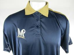 Milwaukee Brewers COOLBASE Men's Blue & Gold Polo Shirt Big