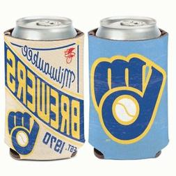 milwaukee brewers cooperstown collection neoprene can coozie