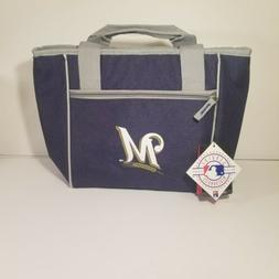 Milwaukee Brewers Crosshatch 16 Can Cooler Tote Bag New With