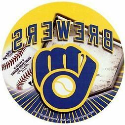 "Milwaukee Brewers Decal 4"" Round Vinyl Auto Home Window Bump"