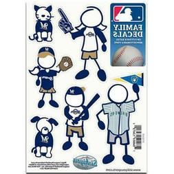Milwaukee Brewers Family Decals 6 Pack  MLB Small Auto Car S