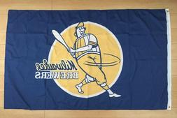 Milwaukee Brewers Flag 3x5 ft Indoor Outdoor Banner MLB Retr