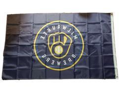 Milwaukee Brewers Flag Banner MLB 3x5 feet NEW 2020 LOGO