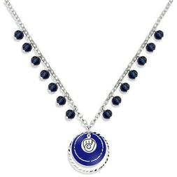 """Milwaukee Brewers Game Day Baseball Logo Necklace  21"""""""