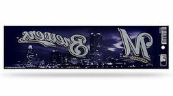 Milwaukee Brewers Glitter Bumper Sticker  MLB Auto Car Truck