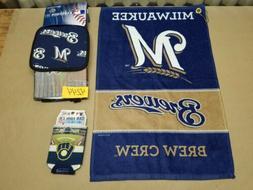 Milwaukee Brewers Golf Bag Towel, BBQ Set Apron Oven Mit Pot
