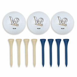 Milwaukee Brewers Golf Ball & Tee Set