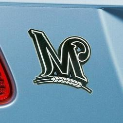 Milwaukee Brewers Heavy Duty Metal 3-D Chrome Auto Emblem