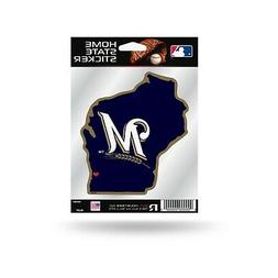 Milwaukee Brewers Home State Sticker Flat DieCut Decal Emble