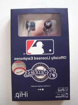 Milwaukee Brewers iHip Logo Baseball Earbuds Ear Head Phones