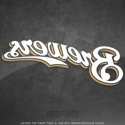 """Milwaukee Brewers Jersey Logo Vinyl Decal Sticker MLB - 4"""" a"""