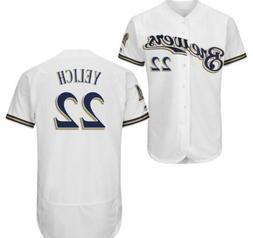 Milwaukee Brewers Jersey MLB Men's Christian Yelich #22 Flex