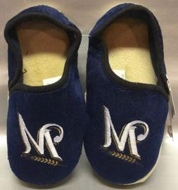 milwaukee brewers kids boys slippers small 1