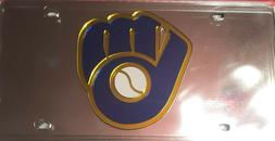 Milwaukee Brewers  LASER TAG LICENSE PLATE DURABLE ACRYL