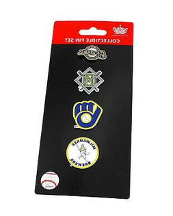 Milwaukee Brewers Logo MLB Baseball Evolution 4 Piece Lapel