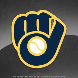 "Milwaukee Brewers Logo Vinyl Decal Sticker MLB - 4"" and Larg"