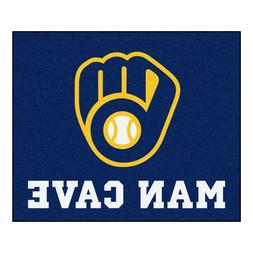 Milwaukee Brewers Man Cave 5' X 6' Tailgater Area Rug Floor