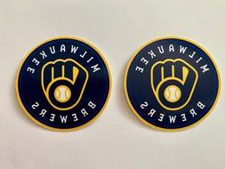 Milwaukee Brewers Mitt logo Car Bumper Window Laptop Vinyl S