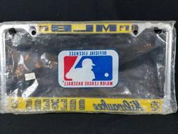Milwaukee Brewers MLB Baseball 80s Vintage License Plate Met